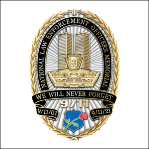 """NLEOMM """"We Will Never Forget"""" 9/11 Magnet"""